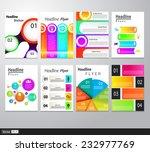 set of flyer  brochure design... | Shutterstock .eps vector #232977769
