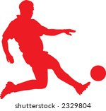 footballer   Shutterstock .eps vector #2329804