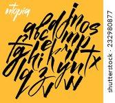 expressive calligraphic script. ... | Shutterstock .eps vector #232980877