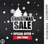 christmas sale inscription with ... | Shutterstock .eps vector #232985599