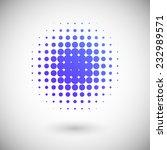 halftone effect vector... | Shutterstock .eps vector #232989571