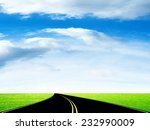 way on background year sky | Shutterstock . vector #232990009
