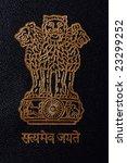 indian national emblem on an... | Shutterstock . vector #23299252