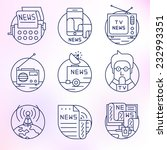 set round  vector icons.news ... | Shutterstock .eps vector #232993351