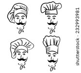 illustration set of chef in hat.... | Shutterstock .eps vector #232993981