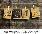 new year 2015 vintage style. | Shutterstock . vector #232999099