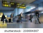 airline passengers in an... | Shutterstock . vector #233004307