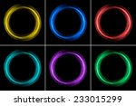 set of color rings | Shutterstock . vector #233015299