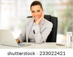 attractive young businesswoman... | Shutterstock . vector #233022421