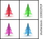 3d christmas tree concept...   Shutterstock . vector #233022919