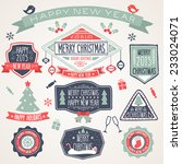 colorful merry christmas flyer. ... | Shutterstock .eps vector #233024071