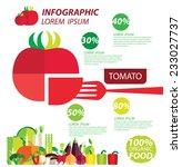 tomato  infographics.... | Shutterstock .eps vector #233027737