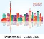 Toronto Skyline. Vector...