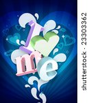 i love me illustration ... | Shutterstock . vector #23303362