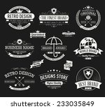 vintage banners and frames hand ... | Shutterstock .eps vector #233035849