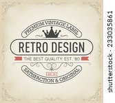 vintage hand drawn banners | Shutterstock .eps vector #233035861