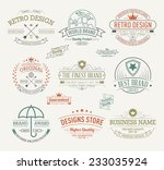 vintage banners and frames hand ... | Shutterstock .eps vector #233035924