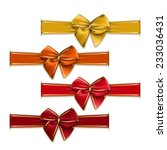 Set Of Elegant Silk Color Bows...