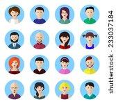 avatars set 2. flat design | Shutterstock .eps vector #233037184