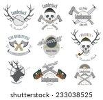 set of vintage lumberjack... | Shutterstock .eps vector #233038525