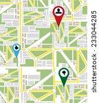 map navigation | Shutterstock .eps vector #233044285