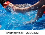 two boys playing and kicking in ... | Shutterstock . vector #2330532