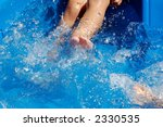 close up of boy kicking in... | Shutterstock . vector #2330535