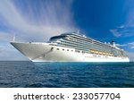 large beautiful cruise ship at... | Shutterstock . vector #233057704