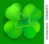 green shamrock  trefoil or... | Shutterstock .eps vector #233060371