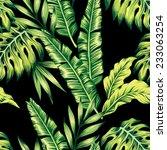 painting tropic summer seamless ... | Shutterstock .eps vector #233063254