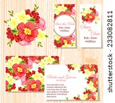 wedding invitation cards with...   Shutterstock .eps vector #233082811