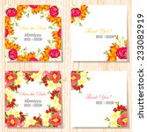 wedding invitation cards with... | Shutterstock .eps vector #233082919