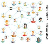 connecting people  social media ... | Shutterstock .eps vector #233087251