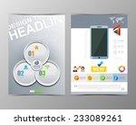 abstract geometric brochure... | Shutterstock .eps vector #233089261
