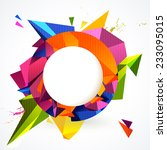 composition of colorful round... | Shutterstock .eps vector #233095015