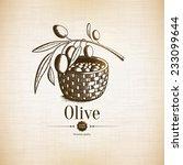 Olive Label  Logo Design. Oliv...