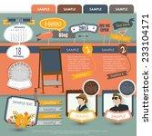 vintage web design elements 4   Shutterstock .eps vector #233104171