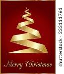 gold christmas tree  | Shutterstock .eps vector #233111761