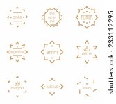 retro hipster badges and labels.... | Shutterstock .eps vector #233112295