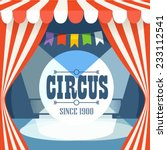 circus postcard template.... | Shutterstock .eps vector #233112541