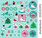 christmas clip art | Shutterstock .eps vector #233122291