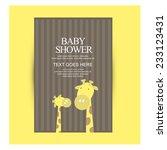 baby shower invitation. vector | Shutterstock .eps vector #233123431