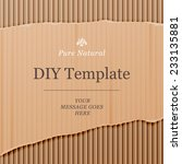 diy template with cardboard... | Shutterstock .eps vector #233135881