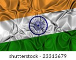Waving flag of India - stock photo