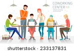 concept of the coworking center.... | Shutterstock .eps vector #233137831