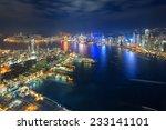 skyline of hong kong at sunset... | Shutterstock . vector #233141101