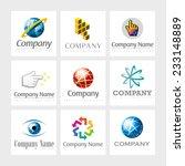 set of 9 vector elements for... | Shutterstock .eps vector #233148889
