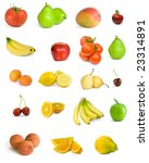 large page of fruits isolated... | Shutterstock . vector #23314891