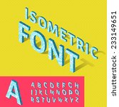 isometric alphabet and grid ... | Shutterstock .eps vector #233149651