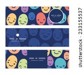 vector funny faces horizontal... | Shutterstock .eps vector #233155537